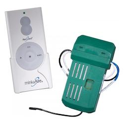 White Hand Held Remote Control And Receiver For Minkaaire Fans