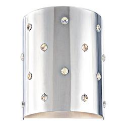 Chrome 1 Light ADA Compliant Flush Mount Wall Sconce from the Bling Bling Collection