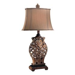 Weathered Lattice 1 Light Table Lamp from the Jessica McClintock Home Collection - 216999