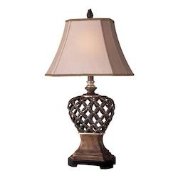 1 Light Table Lamp with Brown Gold Finish - 217001