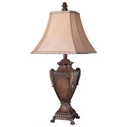 1 Light Table Lamp with Rustic Walnut Finish - 217005