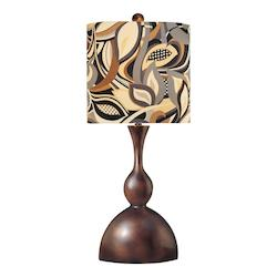 Multicolor 1 Light 34in. Height Table Lamp with Multi-Colored Shade - 217009