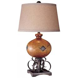 Clay Brown With Iron Oxide 1 Light 30in. Height Table Lamp - 217042