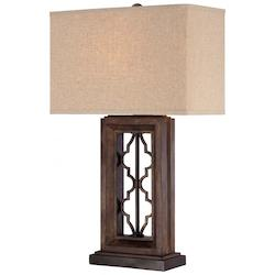 Cream Linen 1 Light 28.25in. Height Table Lamp - 217115