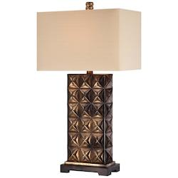 Light Tan Linen 1 Light 32.25in. Height Table Lamp - 217124