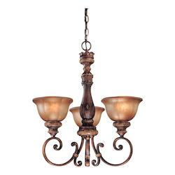Illuminati Bronze 3 Light 1 Tier Chandelier From The Illuminati Collection