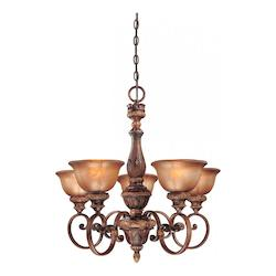 Illuminati Bronze 5 Light 1 Tier Chandelier From The Illuminati Collection