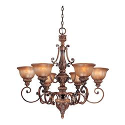 Illuminati Bronze 6 Light 1 Tier Chandelier From The Illuminati Collection