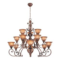 Illuminati Bronze 15 Light 3 Tier Chandelier From The Illuminati Collection