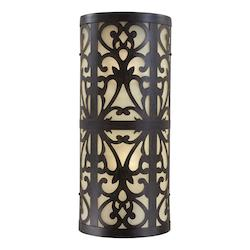 2 Light Outdoor Wall Sconce With Iron Oxide Finish