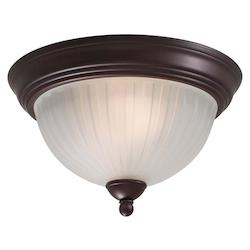 Lathan Bronze 2 Light Flush Mount Ceiling Fixture From The 1730 Collection