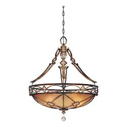 Aston Court Bronze 3 Light Indoor Bowl Shaped Pendant From The Aston Court Collection