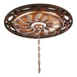 Aston Court Bronze 26.5In. Crystal Accented Ceiling Medallion From The Aston Court Collection