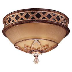 Aston Court Bronze 2 Light Flush Mount Ceiling Fixture From The Aston Court Collection