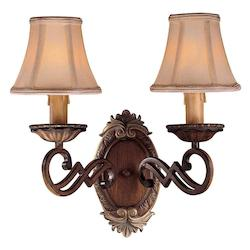 Belcaro Walnut 2 Light Candle-Style Wall Sconce From The Belcaro Collection