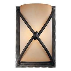 Aspen Bronze 1 Light Wall Sconce From The Aspen Collection