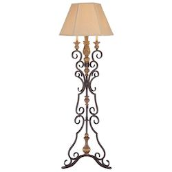 Monte Titano Oro 4 Light Floor Lamp from the Hearst Castle Collection - 217321