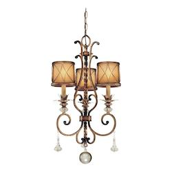 Aston Court Bronze 3 Light 1 Tier Mini Crystal Chandelier From The Aston Court Collection