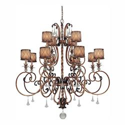 Aston Court Bronze 12 Light 1 Tier Crystal Chandelier From The Aston Court Collection