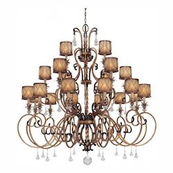 Aston Court Bronze 21 Light 1 Tier Crystal Chandelier From The Aston Court Collection