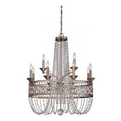 Florentine Silver 15 Light 2 Tier Empire Chandelier from the Lucero Collection - 217659