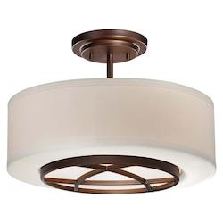 City Club Collection 3-Light Semi Flush