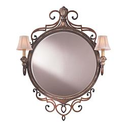 Belcaro Walnut Lighted Mirror from the Jessica McClintock Home Collection - 217728