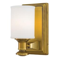 Liberty Gold 1 Light Bathroom Sconce From The Harbour Point Collection