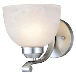 Brushed Nickel 1 Light 6.5In. Width Wall Sconce From The Paradox Collection