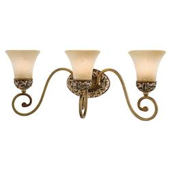 Florence Patina 3 Light Bathroom Vanity Light From The Salon Grand Collection