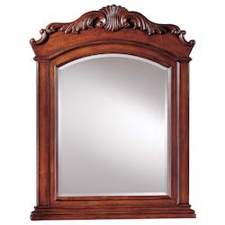 Mirror with Brown Finish  - 217827