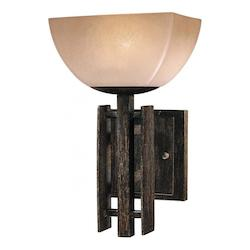 Iron Oxide 1 Light Bathroom Sconce From The Lineage Collection