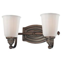 Dark Brushed Bronze 2 Light Bathroom Vanity Light From The Clairemont Collection