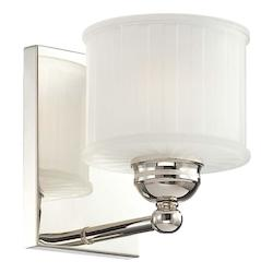 Polished Nickel 1 Light 7In. Height Bathroom Sconce From The 1730 Series Collection