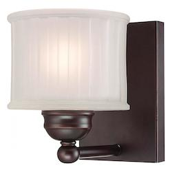 Lathan Bronze 1 Light 8.5In. Height Bathroom Sconce From The 1730 Series Collection
