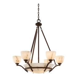 Nutmeg 9 Light 1 Tier Chandelier From The Calavera Collection