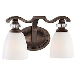 Dark Noble Bronze 2 Light Bathroom Vanity Light From The Thorndale Collection