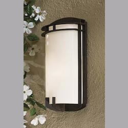 One Light Black Outdoor Wall Light