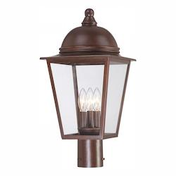 Rivendale Court Collection 3-Light Post Mount