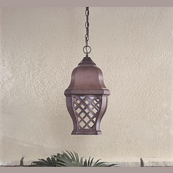 1 Light Outdoor Hanging Lantern In Antique Finish