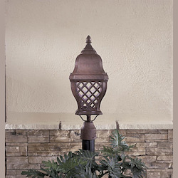 1 Light Outdoor Post With Bronze Finish