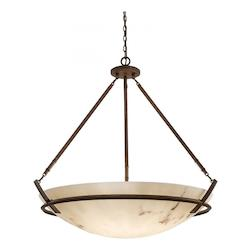 Nutmeg 8 Light Indoor Bowl Shaped Pendant From The Calavera Collection