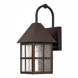 1 Light Outdoor Wall Light With Rust Finish