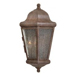 2 Light Wall Pocket Sconce With Rust Finish