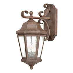 2 Light Outdoor Wall Sconce With Rust Finish