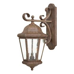 3 Light Outdoor Wall Sconce In Rust Finish