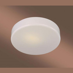 White 1 Light Fluorescent Flush Mount Ceiling Fixture