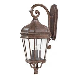 4 Light Cast Aluminum Wall Sconce In Rust Finish