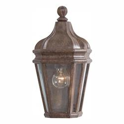 1 Light Outdoor Wall Sconce With Rust Finish