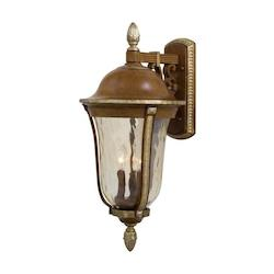 3 Light Outdoor Lantern With Mossoro Walnut Finish